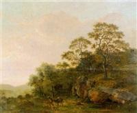 felsige landschaft mit bauer und packesel by tobias gimbel