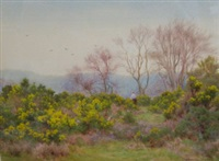 spring on the heath, near reigate by george marks