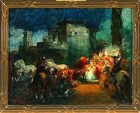 a roman procession by giuseppe rivaroli