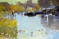 a cold morning - twickenham by matthew alexander