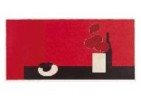 grande nature morte aux hortensias et avocats (etat rouge) by bernard cathelin