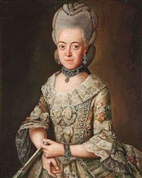 porträt der maria christina von keget by friedrich ludwig hauck