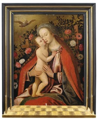 die madonna mit dem christusknaben im rosenhag by anonymous-flemish (17)