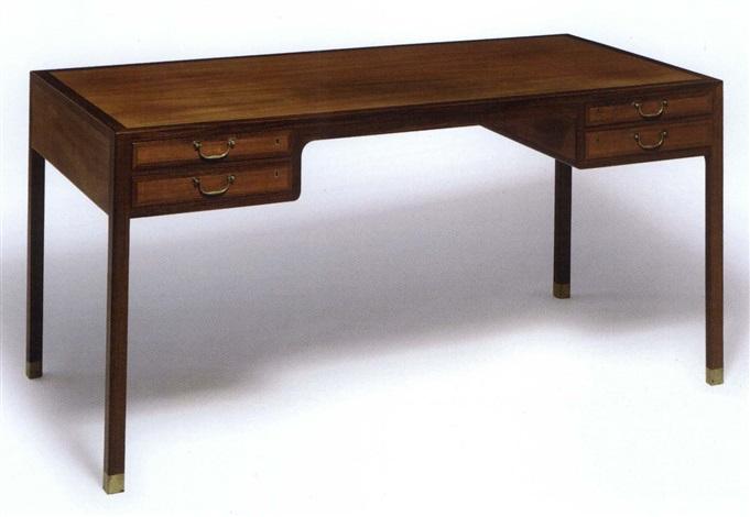 Freestanding writing desk by Ole Wanscher on artnet