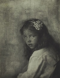 portrait of a young girl by gertrude kasebier