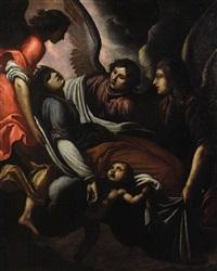 la sepoltura di santa caterina d'alessandria sul monte sinai by giovanni bilivert