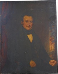 portrait of a gentleman ( collab. w/ william jewett) by samuel lovett waldo