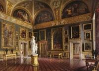 florenz - blick in die sala dell'iliade in palazzo pitti by santi corsi