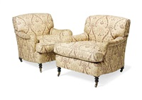 armchair (+ another; pair) by george smith