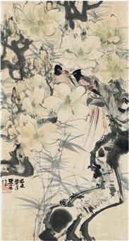 玉兰双寿图 by liu danzhai