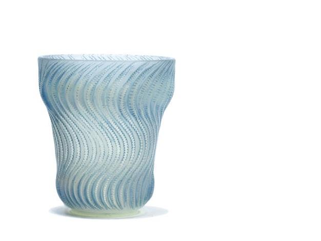 a rené lalique actina vase by rené lalique