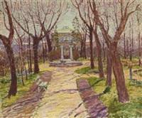 park im herbst by vasili (vladimir) vasilievich perepletchikov