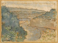river landscape by diego rivera