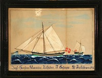 ship portrait of the danish yacht hansine rasmine by jens christian rasmussen