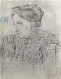 porträt der mutter paul gauguins by georges daniel monfreid