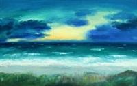 coastal scene by knud kristensen