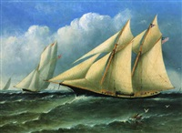 the anglo-american yacht race, 1868... by j.w. anderson
