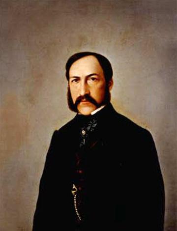 portrait eines bärtigen mannes by karl henisch
