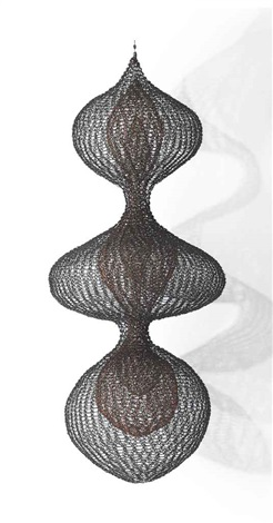untitled s.387 (three lobed continuous form with two interior lobed continuous forms) by ruth asawa