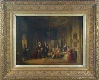 scène d'intérieur, discussion by henricus engelbertus reijntjens