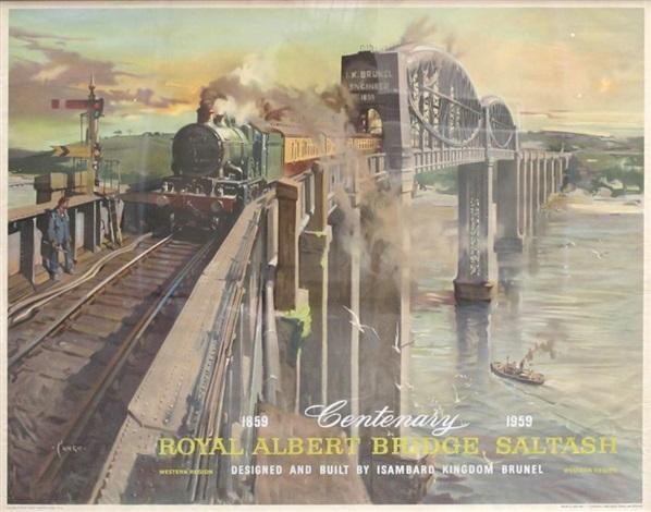 centenary royal albert bridge saltash 185901959 by terence cuneo