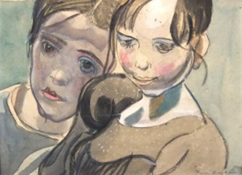 two girls by frances mary hodgkins