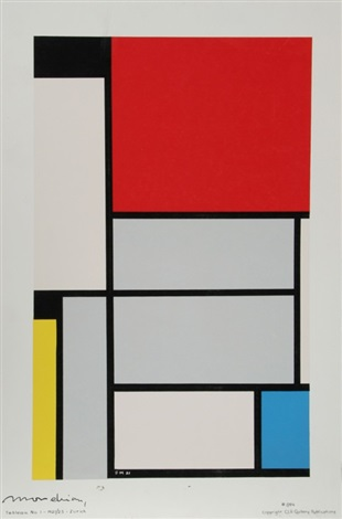 tableau no 1 by piet mondrian