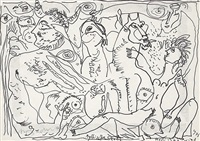 mythische szene by rudolf (rudi) baerwind