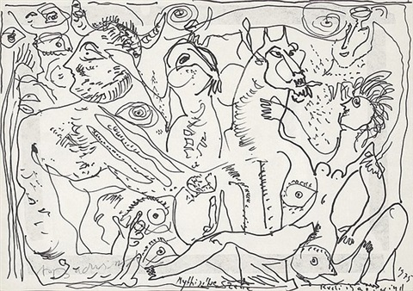 mythische szene by rudolf rudi baerwind