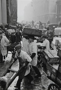 billingsgate fish market, london by henri cartier-bresson