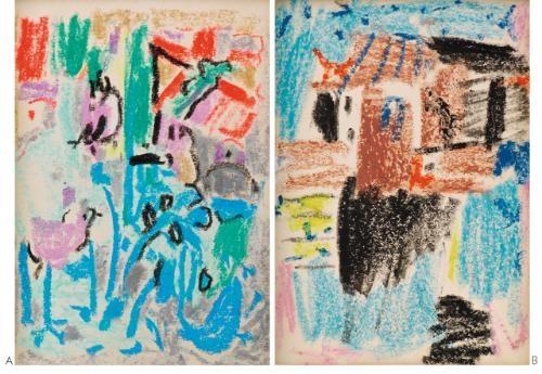 a untitled b untitled 2 works by wu dayu
