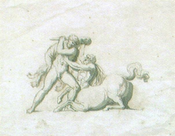 herkules i strid med kentauren by jonas akerstrom