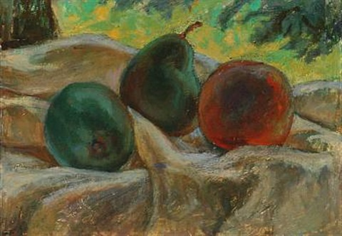 still life with fruit by ellen fischer