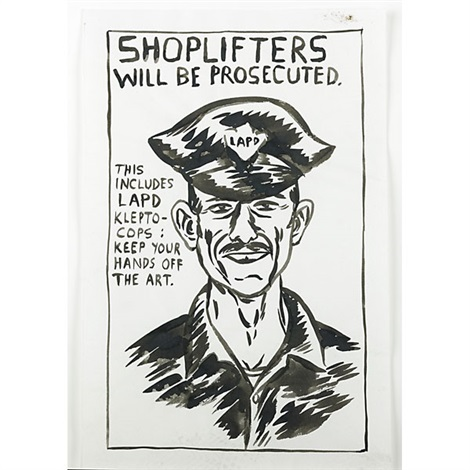 Untitled Shoplifters will be prosecutedthis includes LAPD klepto