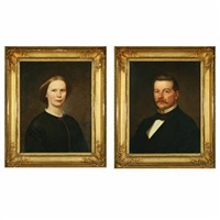 portrait of otto ferdinand von linstow (+ portrait of nicoline von linstow; pair) by thomas m. jensen