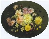 päonien und andere blüten in einem strauss by moise jacobber