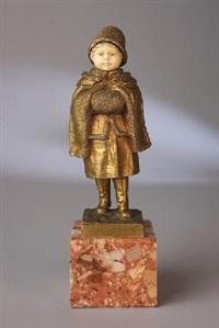 niña con capa by joseph le guluche