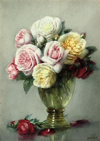 roses in full bloom by isidore rosenstock
