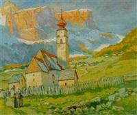 dorfkirche in colfuschg by julius von kaan-albest