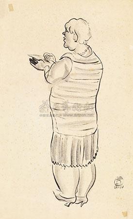 胖妇人的背影 by sanyu