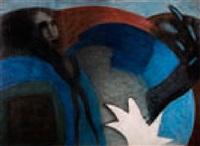 figure féminine dans environnement abstrait by philippe grosclaude