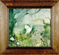 florida egrets by alice scott