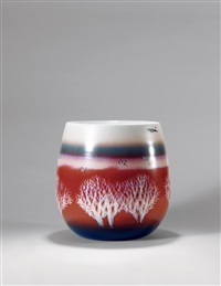 色釉装饰「红树林」瓷瓶 (red forest vase) by xu jiangyun