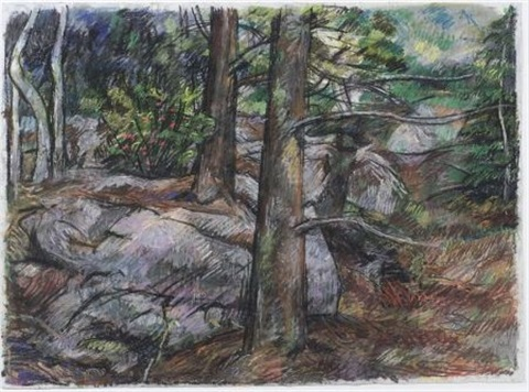 tree and rocks after cézanne by jon imber