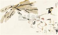 荷花 by liang tianzhu