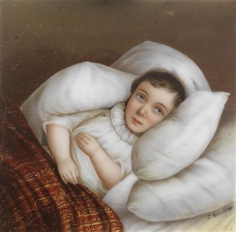 ein krankes kind im bett by jan zacharias quast on artnet. Black Bedroom Furniture Sets. Home Design Ideas