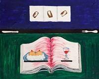 composition with a book by síren kjaersgaard