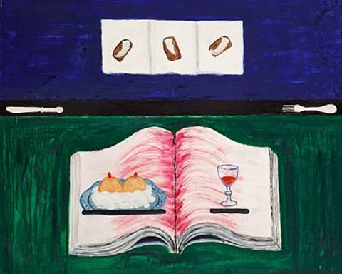 composition with a book by síren kjaersgaard