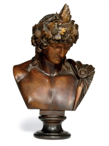 bust of antinous as dionysus osiris by benedetto boschetti