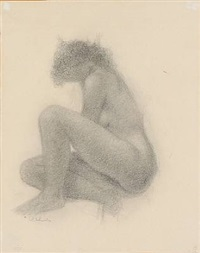 seated woman by gerhard henning